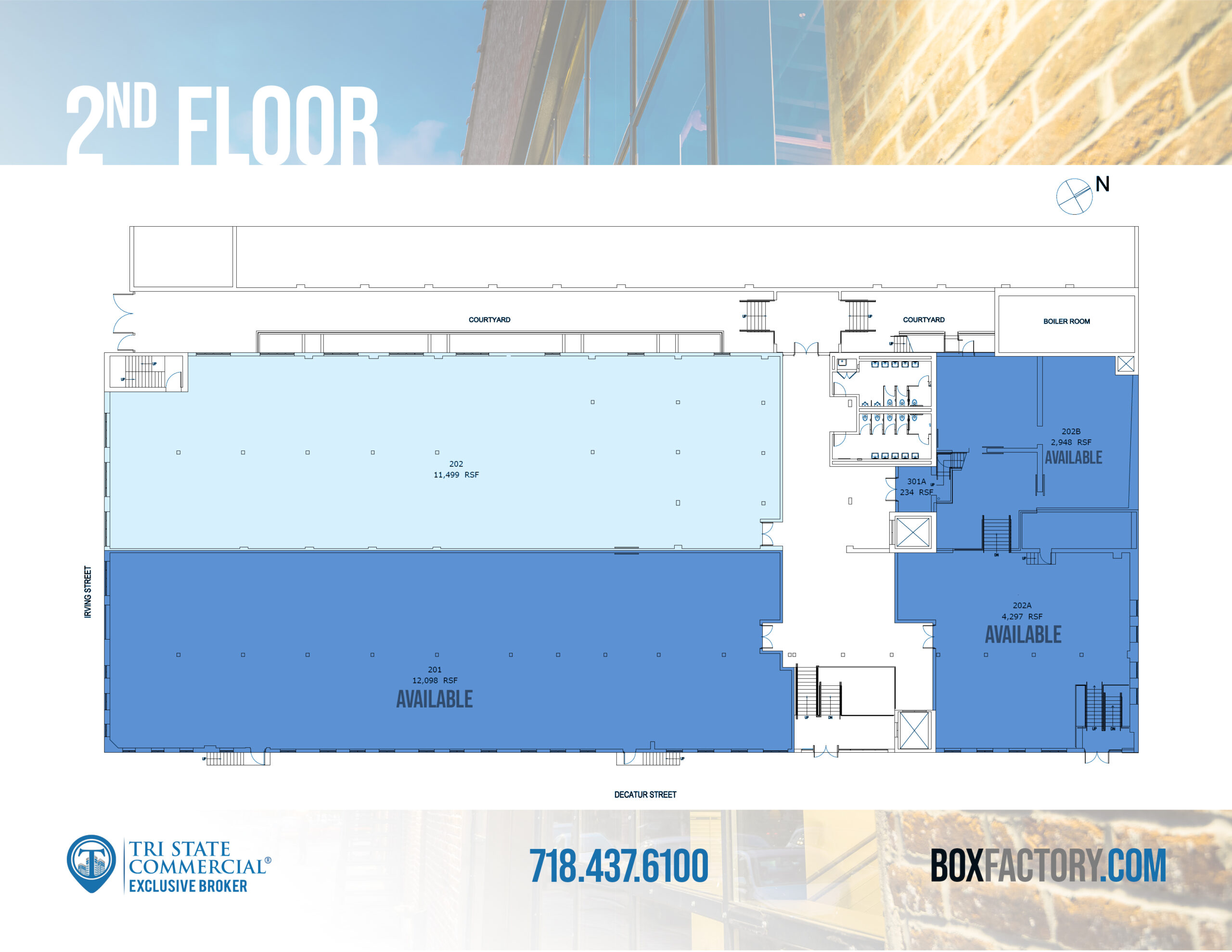 Box Factory - 2nd floor available spaces plan